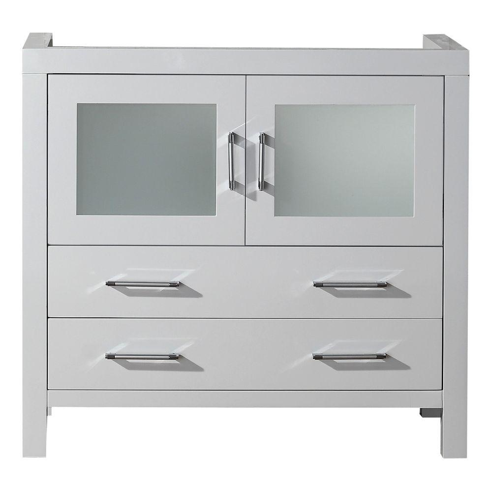 Virtu usa dior 36 in w x 18 3 in d x in h vanity cabinet only in white ks 70036 cab wh for 36 x 18 bathroom vanity cabinet