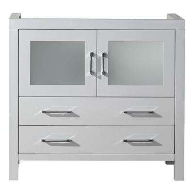 Dior 36 in. W Bath Vanity Cabinet Only in White
