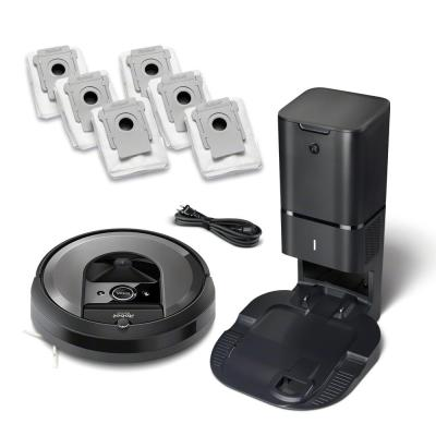 Roomba i7+ (7550) Wi-Fi Connected Robot Vacuum Bundle (+ 6 Extra Dirt Disposal Bags)