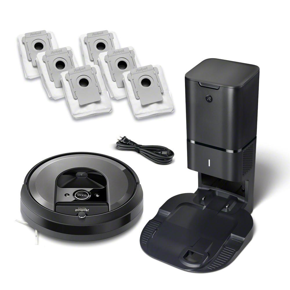 Roomba i7+ (7550) Wi-Fi Connected Robot Vacuum Bundle (+ 6 Extra Dirt Disposal Bags)