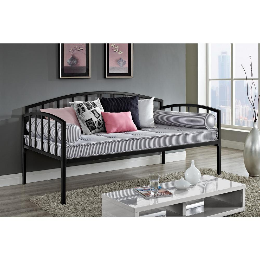 . DHP Ava Black Day Bed 5508196   The Home Depot