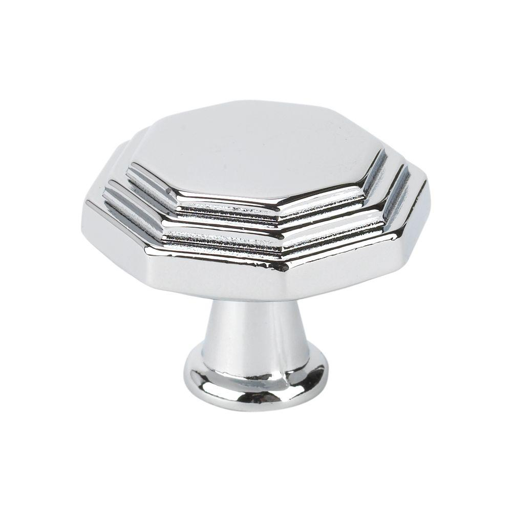 Italian Designs Collection 1 in. Chrome Octagon Cabinet Knob