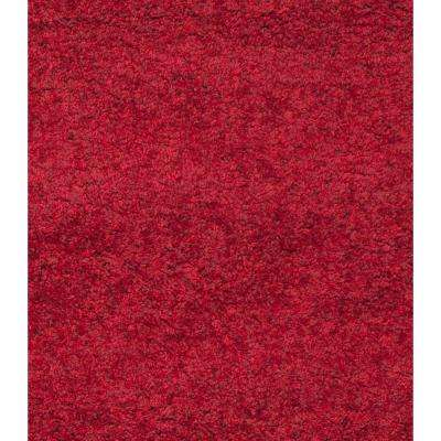 California Shag Red 10 ft. x 13 ft. Area Rug