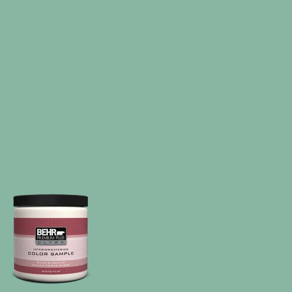 BEHR Premium Plus Ultra 8 oz. #480D-4 Indian Ocean Interior/Exterior Paint Sample