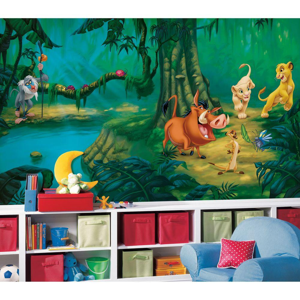 Roommates Lion King Chair Rail Prepasted Wall Mural