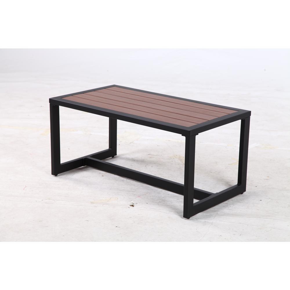 hamptonbay Hampton Bay West Park Black Aluminum Outdoor Coffee Table