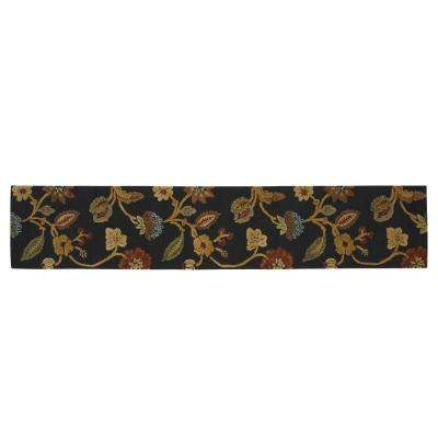 Portico Ebony 3 ft. x 14 ft. Runner Rug