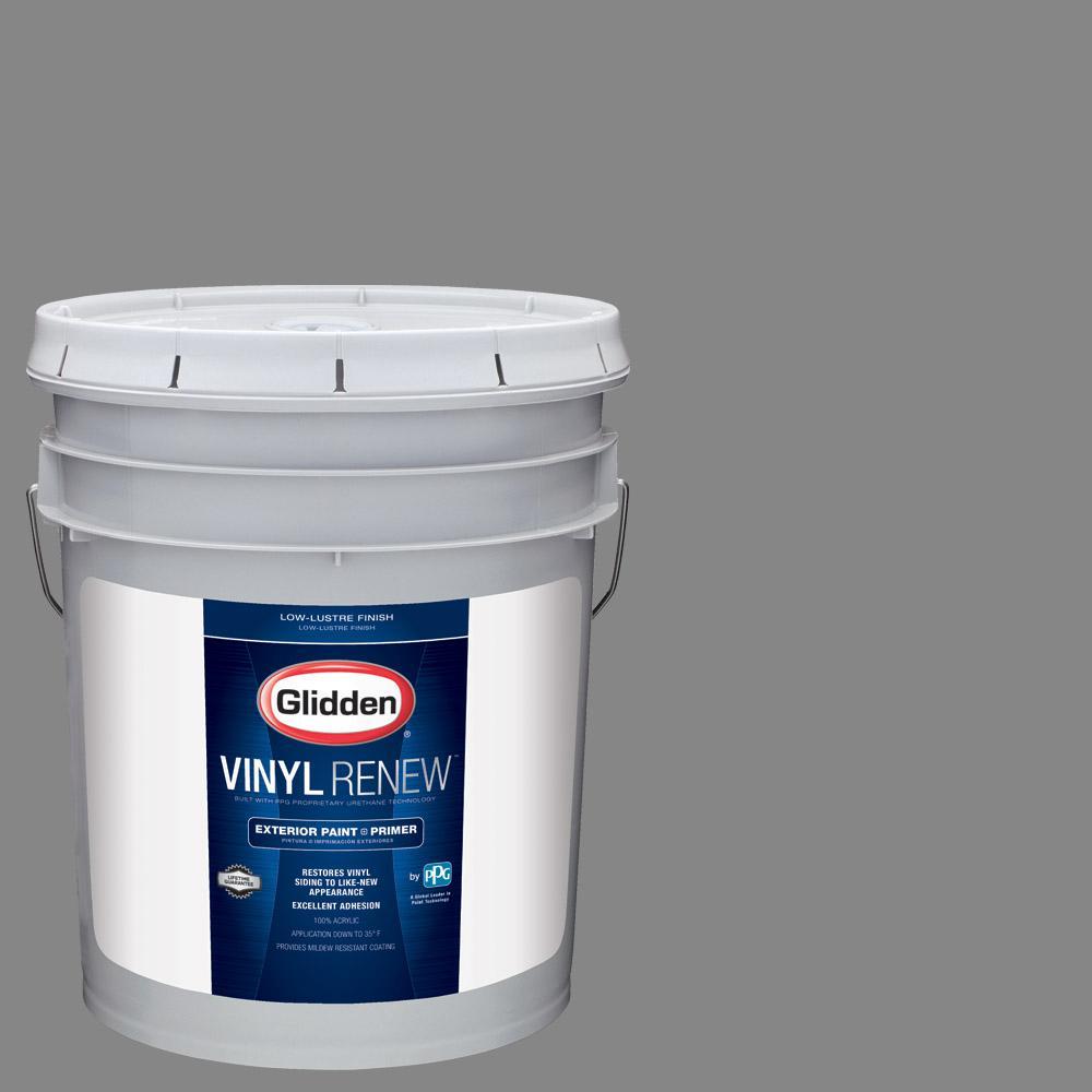 Glidden Vinyl Renew 5 gal. #HDGCN64U Seal Grey Low-Lustre Exterior on best paint for vinyl, krylon paint for vinyl, exterior paint colors 2014, exterior painting tips, exterior vinyl spray-paint, paint to use on vinyl, exterior paint ideas, exterior shutters, waterproof paint for vinyl, flexible paint for vinyl,