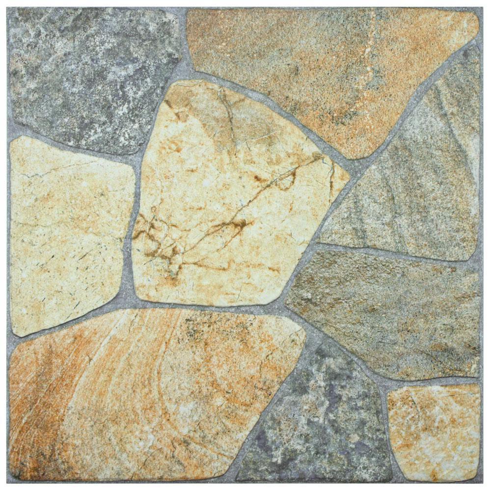 Merola Tile Elba Rustico 17-3/8 in. x 17-3/8 in. Porcelain Floor and ...
