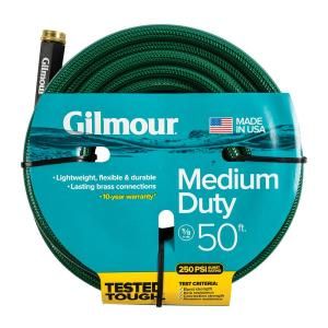 Gilmour 5/8 In. Dia X 50 Ft. Medium Duty Water Hose 1558050HD   The Home  Depot