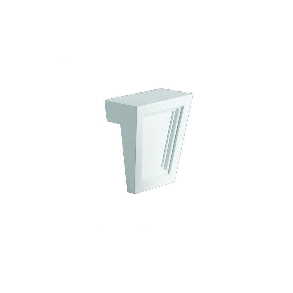 Fypon 4 1/4 in. x 4 1/2 in. x 2 1/4 in. Polyurethane Keystone for Trim Profiles
