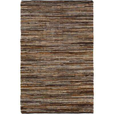 Jeremias Dark Brown 5 ft. x 8 ft. Area Rug