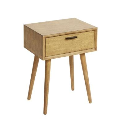 Olsen Natural Mid Century 1-Drawer Accent Table