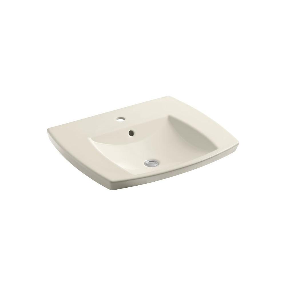 Kohler Kelston Drop In Vitreous China Bathroom Sink In Almond With Overflow Drain K 2381 1 47