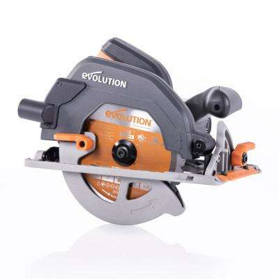 15 Amp 7-1/4 in. Circular Saw with LED Light, Electric Brake, 13 ft. Rubber Power Cord and Multi-Material Blade