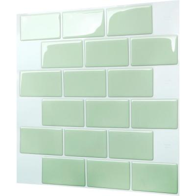 Subway Mist 12 in. W x 12 in. H Peel and Stick Decorative Mosaic Wall Tile Backsplash (5-Tiles)