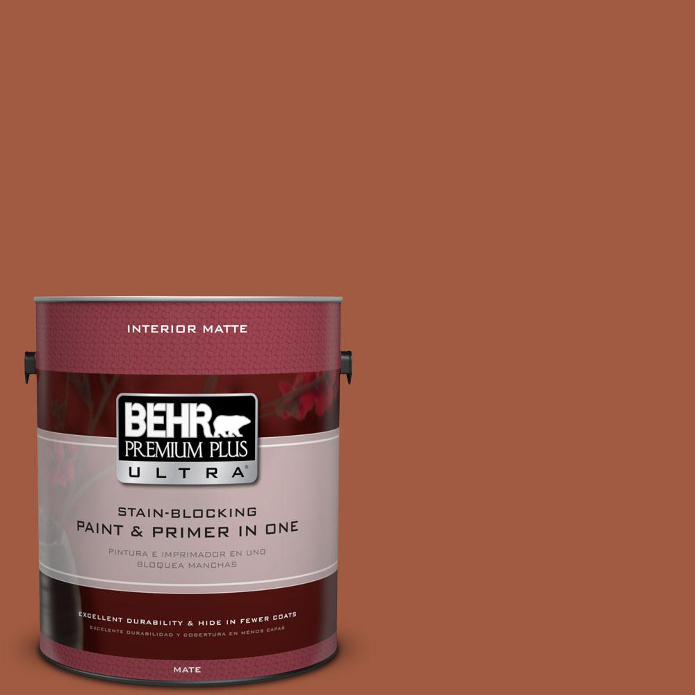 BEHR Premium Plus Ultra Home Decorators Collection 1 gal. #HDC-AC-01 Nouveau Copper Flat/Matte Interior Paint