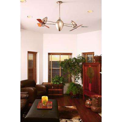 Ar Ruthiane 48 in. Indoor/Outdoor Black Nickel Ceiling Fan with Wall Control