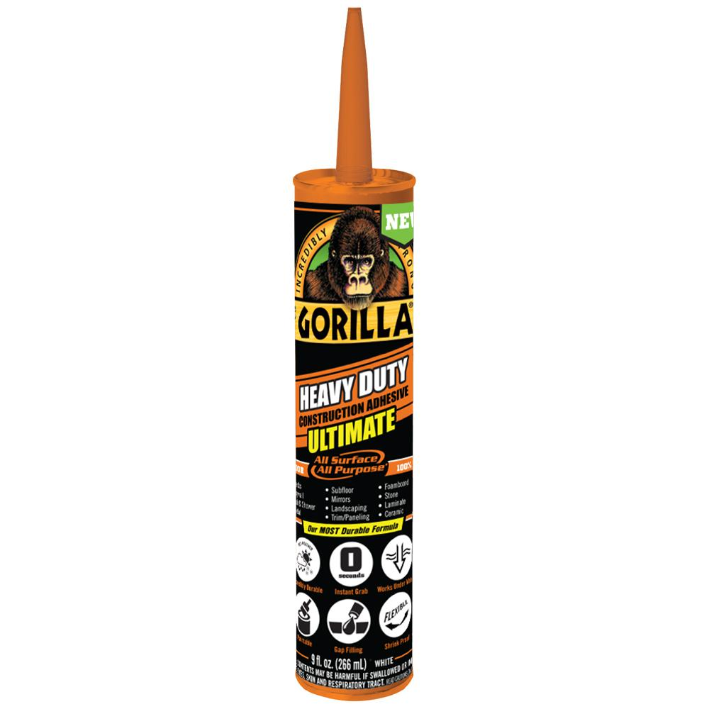 Gorilla 9 oz. Heavy Duty Construction Adhesive Ultimate (12-Pack)