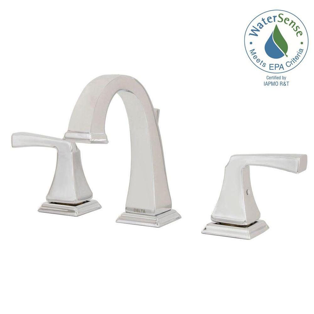 Bathroom Faucet Delta delta dryden 8 in. widespread 2-handle bathroom faucet with metal