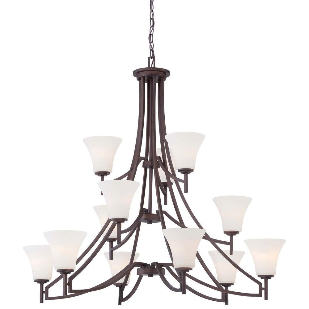 Middlebrook 12-Light Vintage Bronze Chandelier