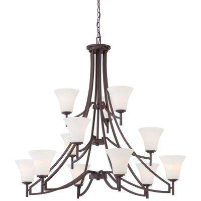 Middlebrook 12-Light Vintage Bronze Chandelier