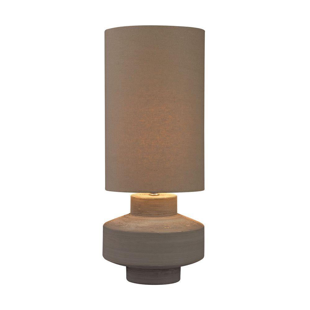 Titan Lighting 26 in. Grey Geometric Brutalist Lamp-TN-999279 ...