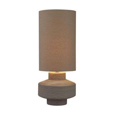 26 in. Grey Geometric Brutalist Lamp