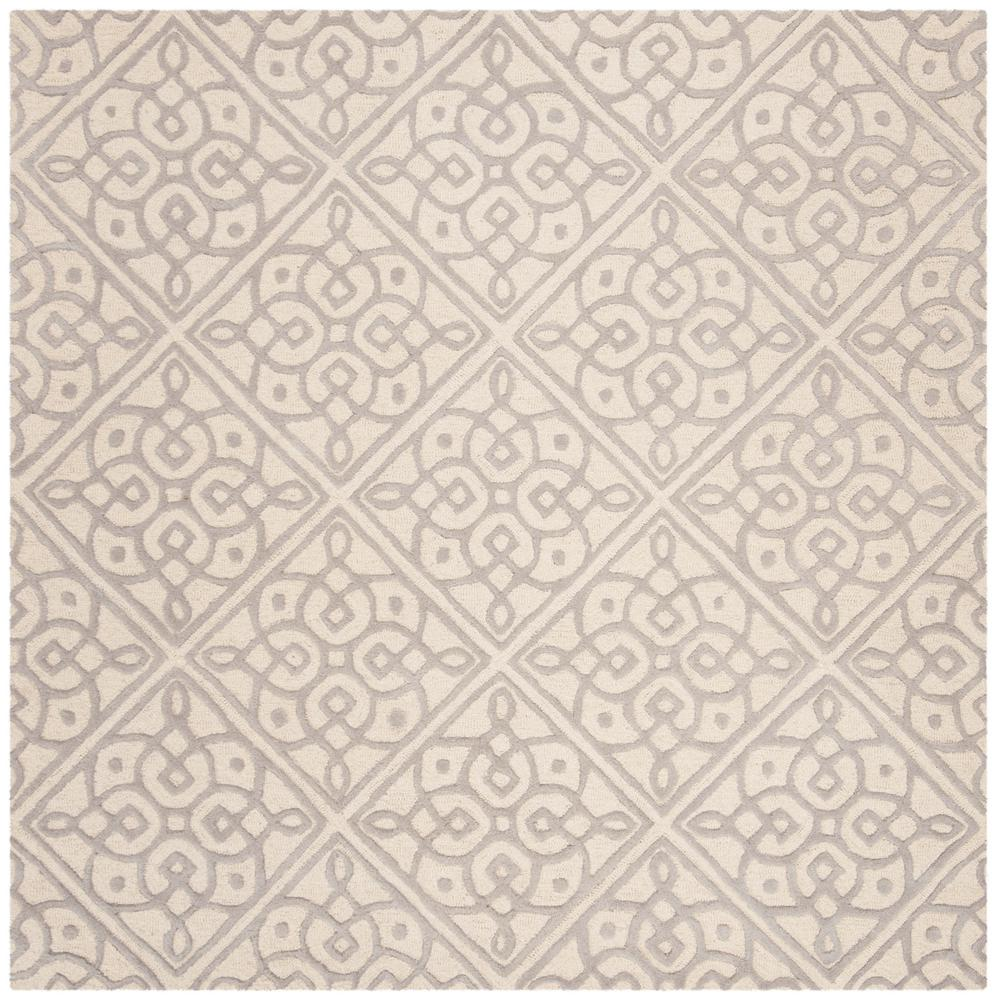 Cambridge Ivory/Gray 6 ft. x 6 ft. Square Area Rug
