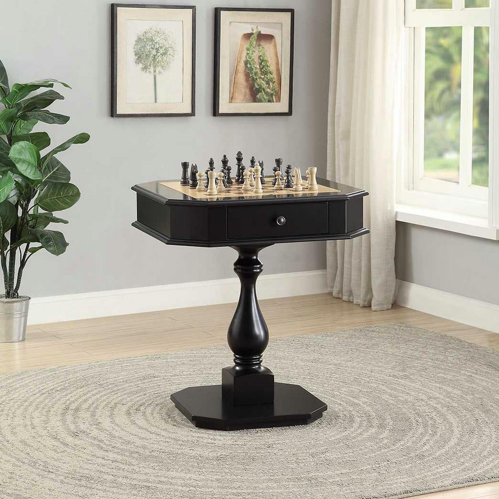 Bishop Black Game End Table