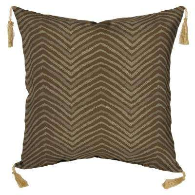 Zebra Square Outdoor Throw Pillow with Tassels (2-Pack)