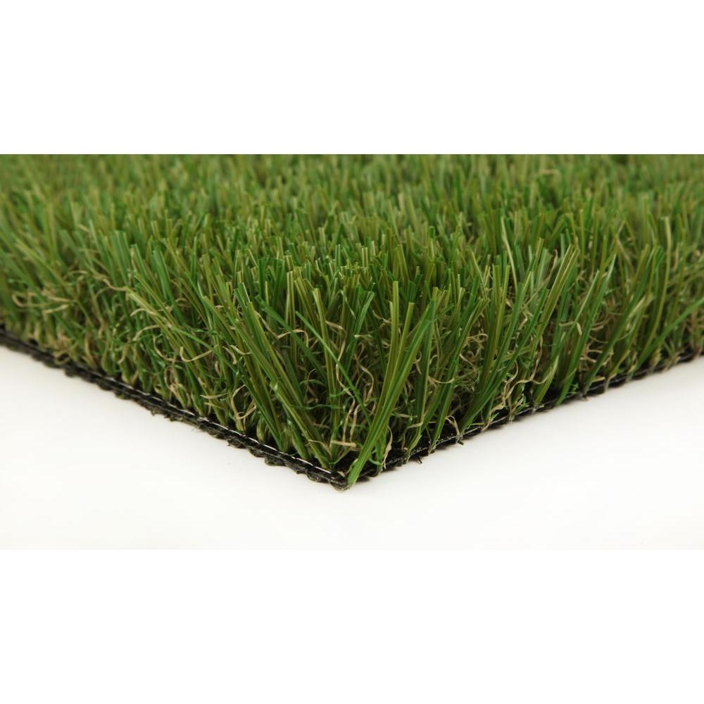 GREENLINE Classic Pro 82 Fescue 15 ft. x 25 ft. Artificial Synthetic Lawn Turf Grass Carpet for Outdoor Landscape