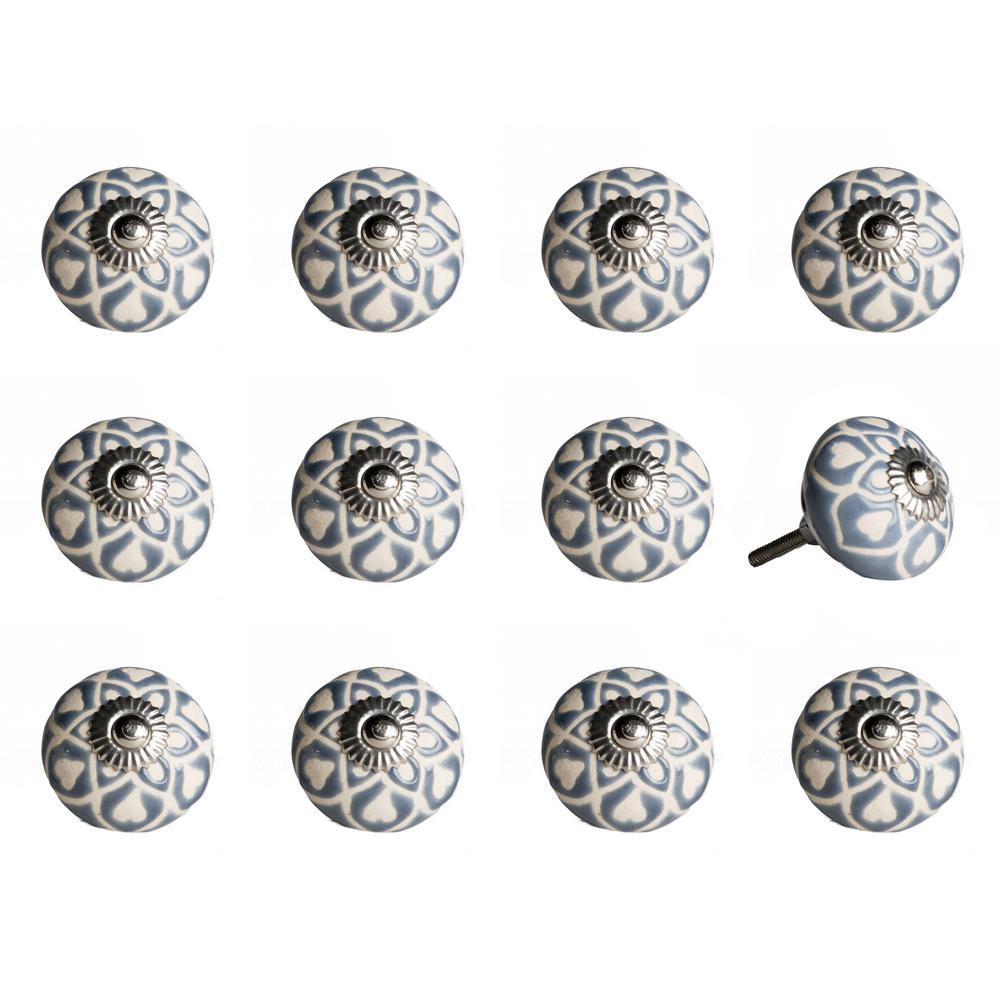 Knob-It Ceramic Hand-Painted Dummy Door Knob (12-Pack)