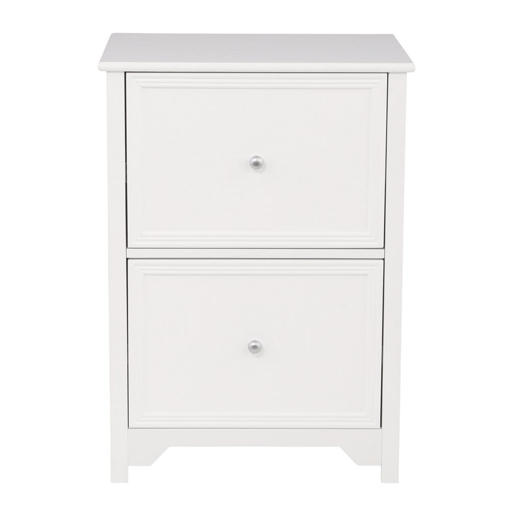 white wood filing cabinet vertical file cabinet oxford white home office 2 drawer 29198