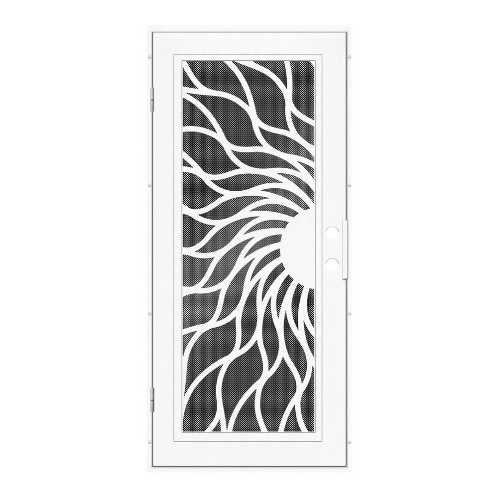 Unique Home Designs 36 In. X 80 In. Sunfire White Left