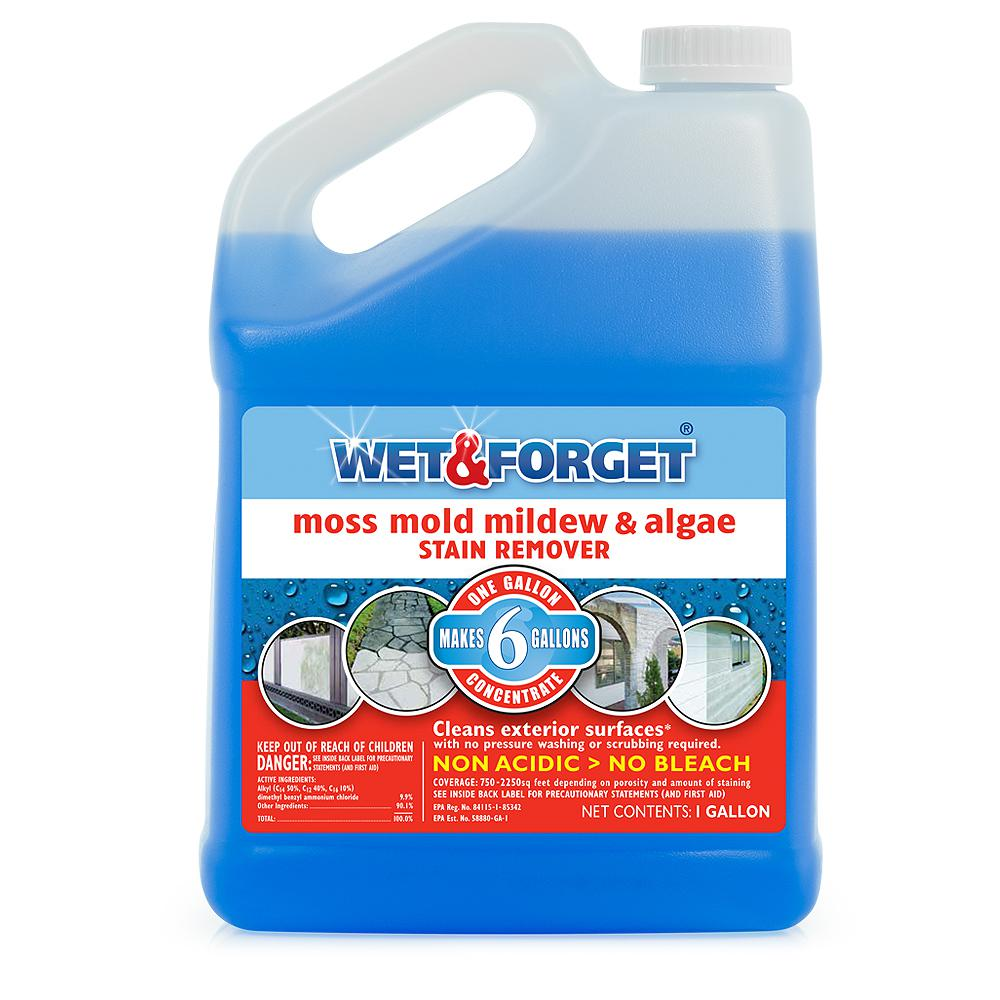 Wet & Forget 1 gal. Moss Mold Mildew and Algae Stain Remover