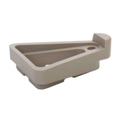 2.25 in. x 5 in. Light Gray Plastic Pot Toes (6-Pack)