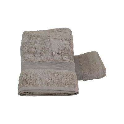 Luxury 2-Piece Cotton Bath Towels in Taupe