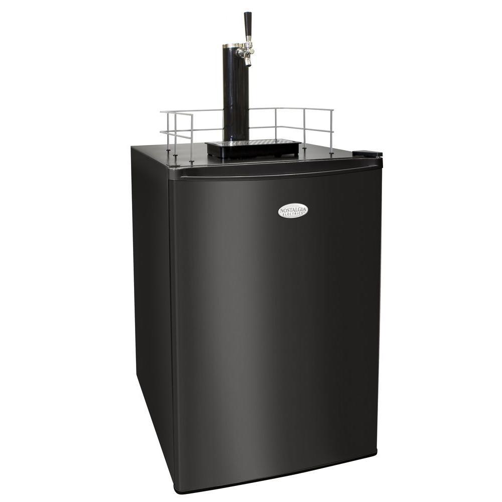 Nostalgia Electrics 6.0 cu. ft. Kegorator Beer Keg Refrigerator in Black-DISCONTINUED