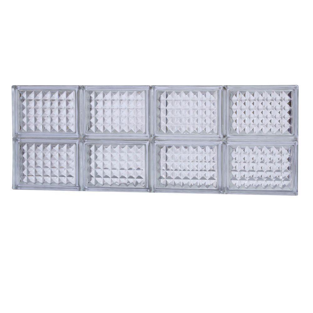 TAFCO WINDOWS 31 in. x 11.5 in. Diamond Pattern Glass Block Window