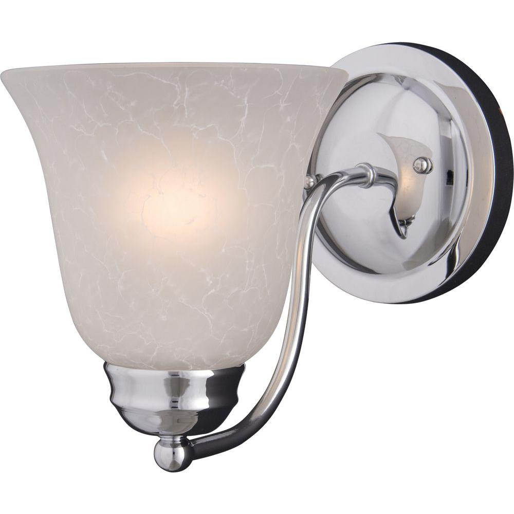 Basix 1-Light Polished Chrome Sconce