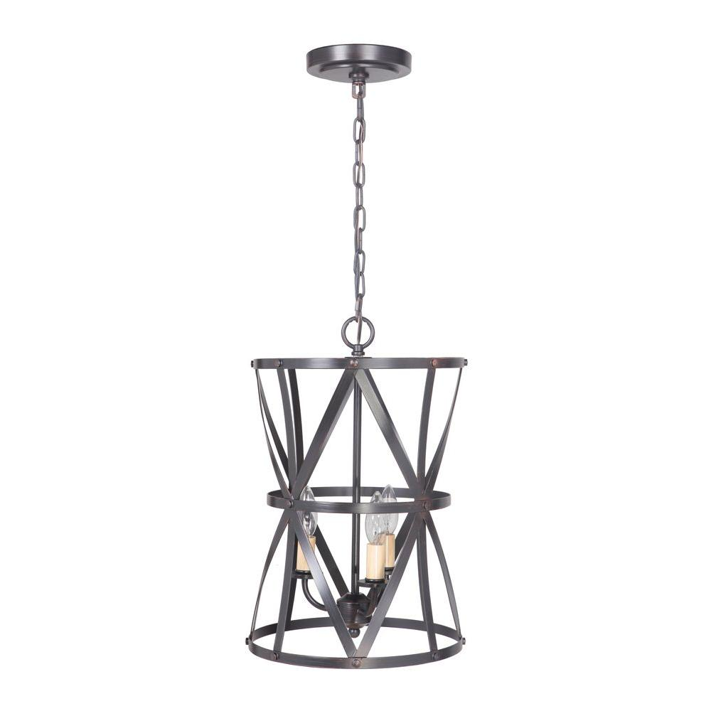 Worth Home Hardwired Pendant Series 5-Lights Brushed Bron...