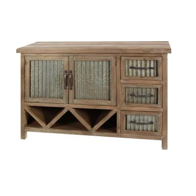 Rustic Wood and Metal Cabinet