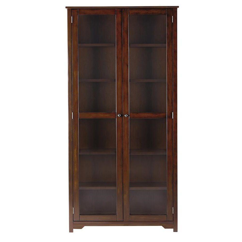 Oxford Chestnut Glass Door Bookcase