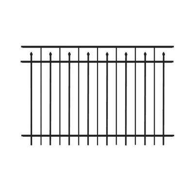 Brilliance Standard-Duty 4 ft. H x 6 ft. W Black Aluminum Pre-Assembled Fence Panel