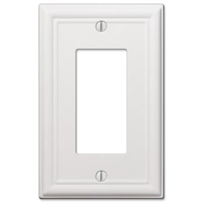 Ascher 1 Gang Rocker Steel Wall Plate - White