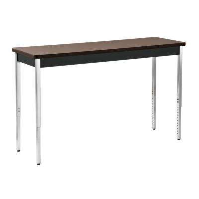 36 in. H x 60 in. W x 20 in. D Heavy Duty Steel Meeting/Activity Table in Black/Walnut