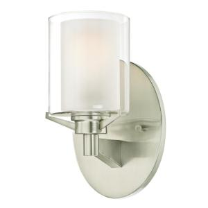 Glenford 1-Light Brushed Nickel Wall Mount Sconce