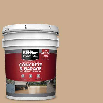 5 gal. #PFC-23 Tan Self-Priming 1-Part Epoxy Satin Interior/Exterior Concrete and Garage Floor Paint