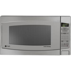Ge Profile 2 Cu Ft Countertop Microwave In Stainless Steel With Defrost And Sensor Controls Jes2251sj The Home Depot